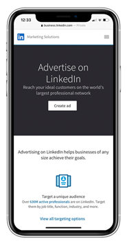 Optimization and measurement of success of an advertisement