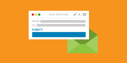 Be straight-forward and frank with your subject line.