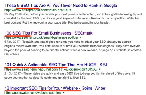 Write SEO-effective headings.
